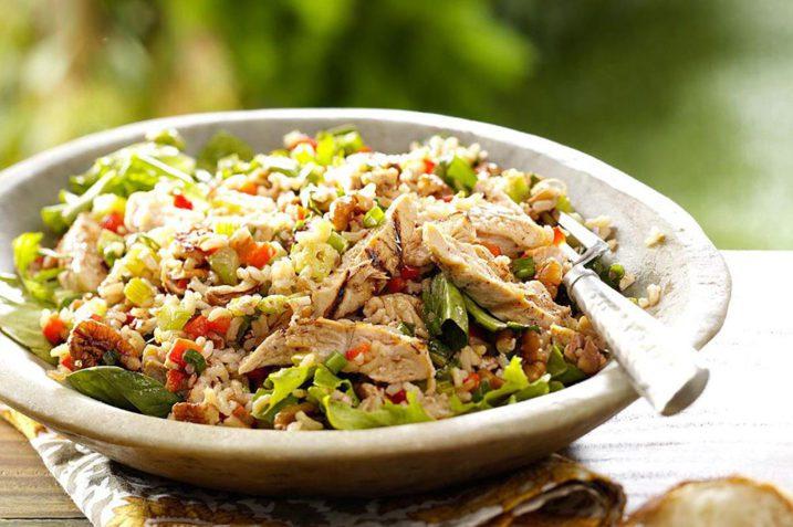 Recept za salatu od pirinča sa piletinom