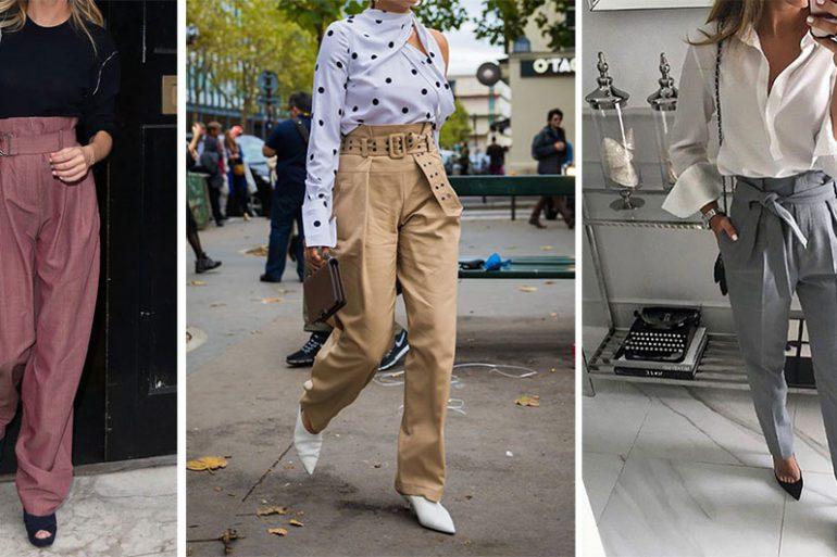 Paper-bag pantalone