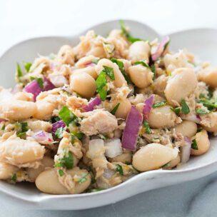 Recept za salatu od tunjevine i belog pasulja