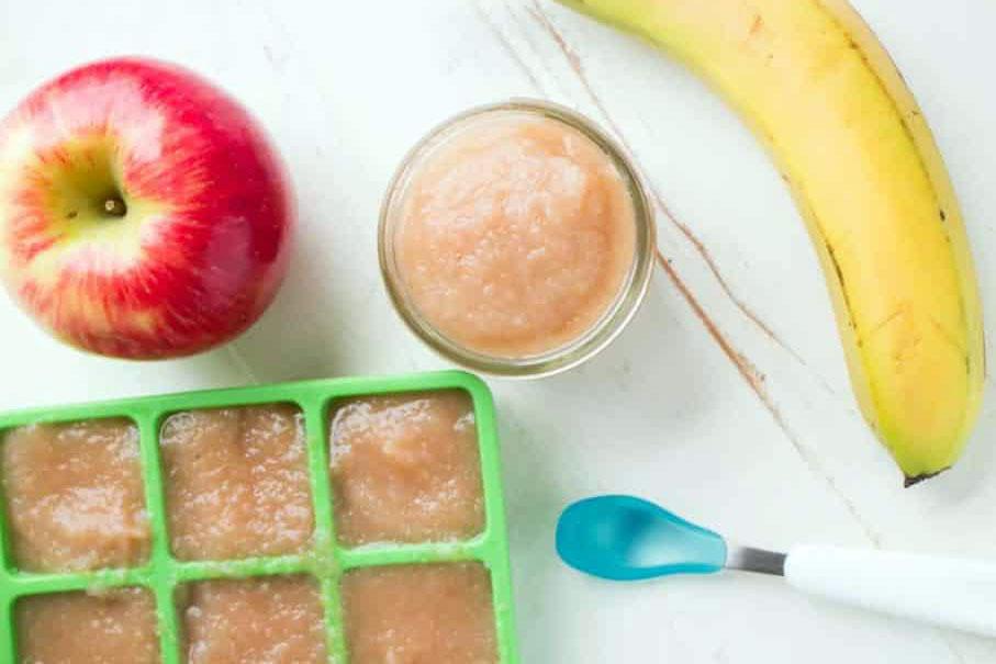 Recept za pire od jabuka i banana sa sokom od pomorandže