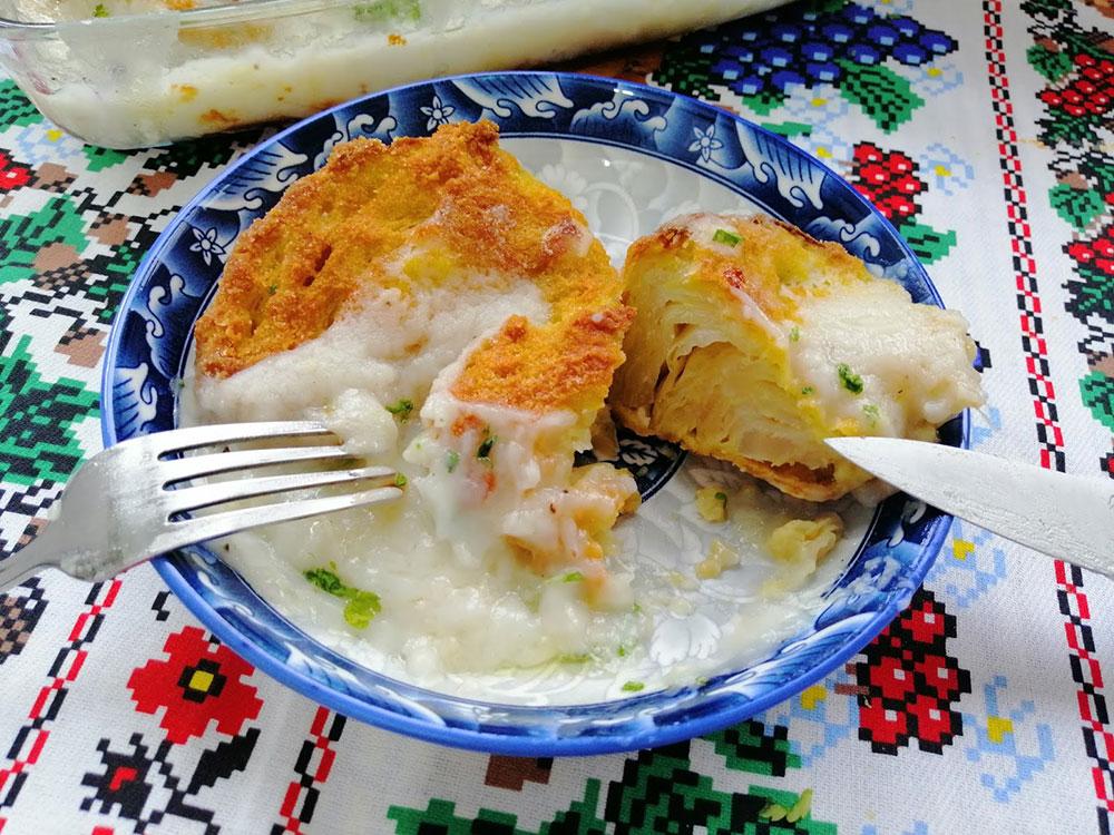 Recept za pohovani kupus u bešamel sosu iz rerne