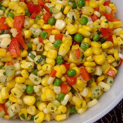recept za jelo sa paprikom, graškom i kukuruzom