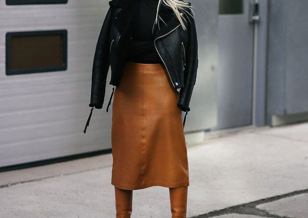 Modni trend: kožna suknja