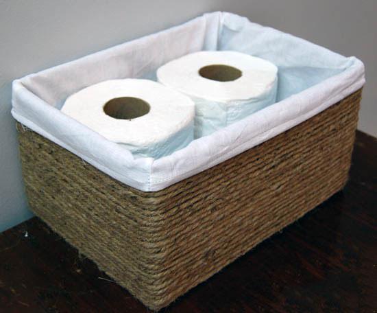 Napravite super korpu za odlaganje za kupatilo